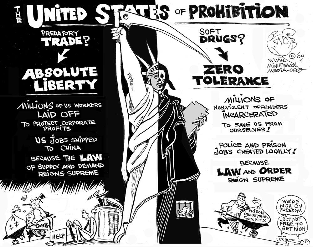an analysis of drug prohibition in the united states Drug prohibition is arguably one of the biggest policy failures drug prohibition fails the cost benefit analysis it is estimated that the united states.