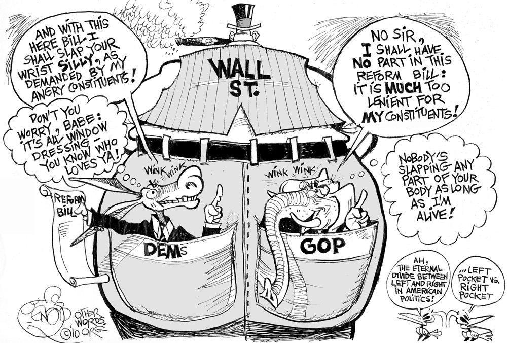 Wall Street's Back Pockets cartoon