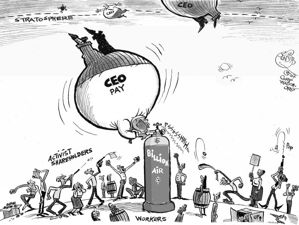 Pumped CEOs cartoon
