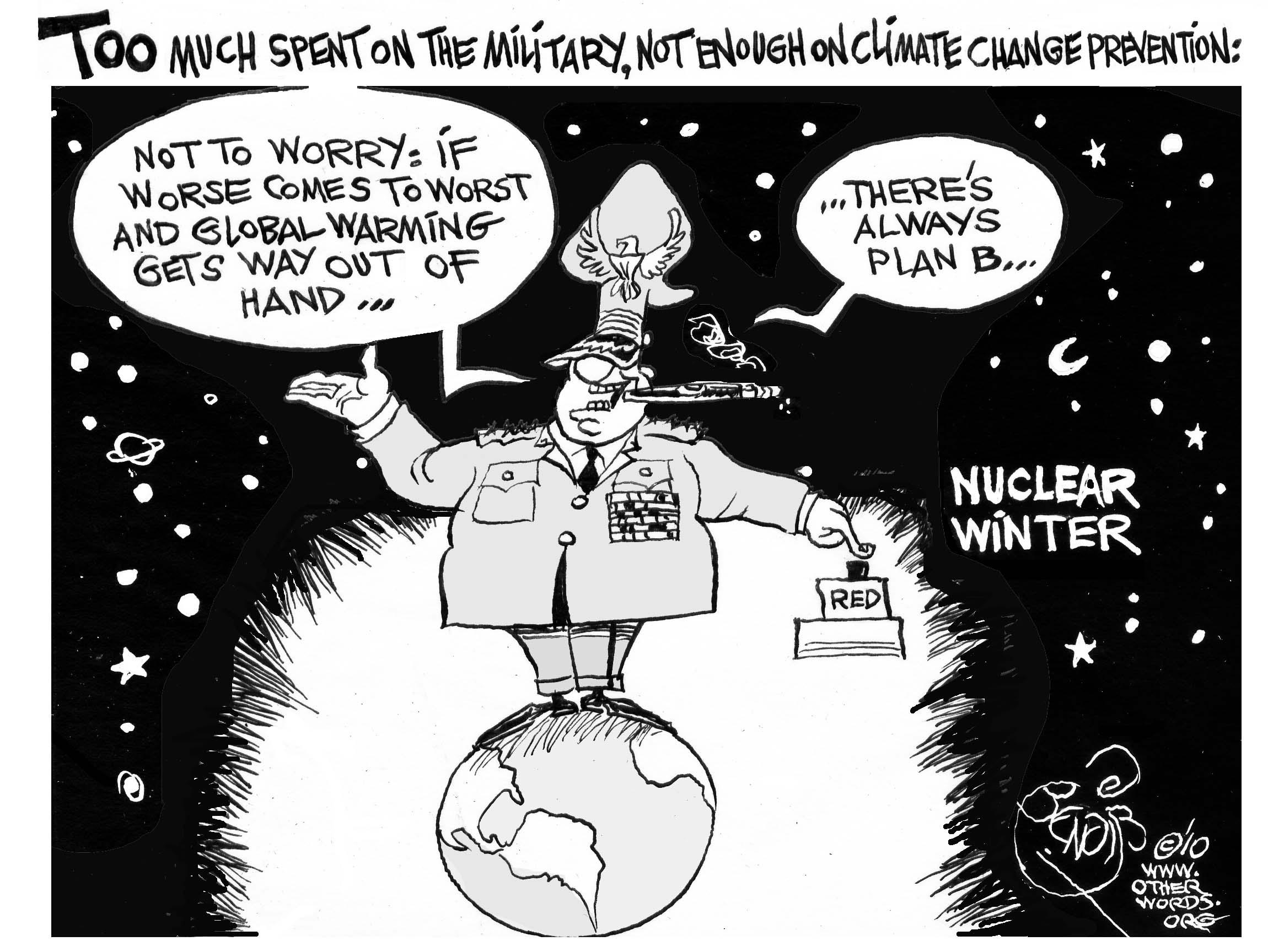 Spend More on the Climate, Less on the Military