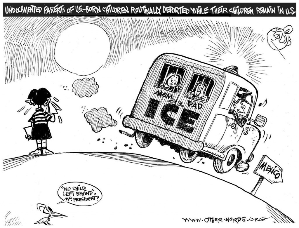 Deporting Mom and Dad cartoon