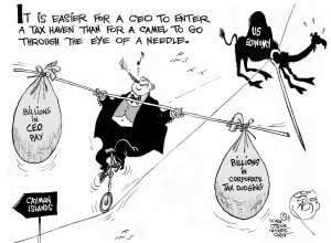 High-Wire CEO cartoon