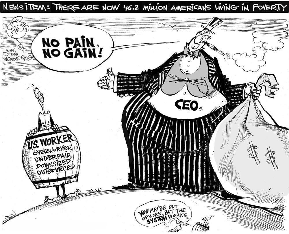 Poverty News cartoon