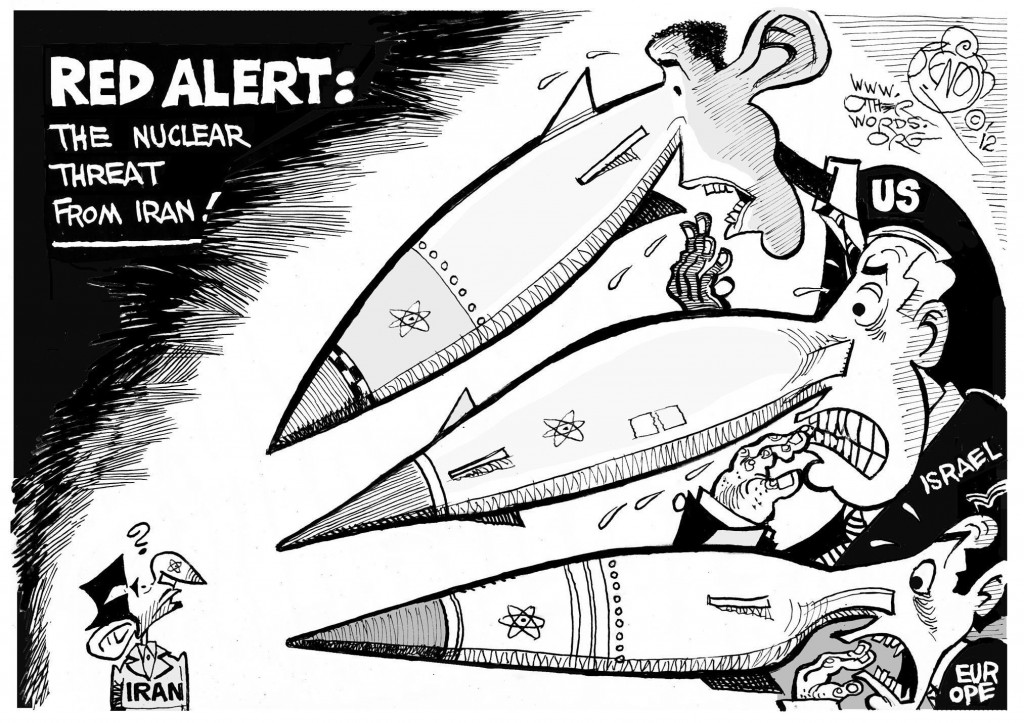 Nuclear Alert cartoon