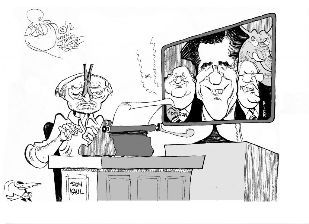 Donald Kaul Signs Off, an OtherWords Cartoon by Khalil Bendib