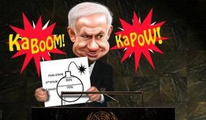 Netanyahu Iran Cartoon Bomb