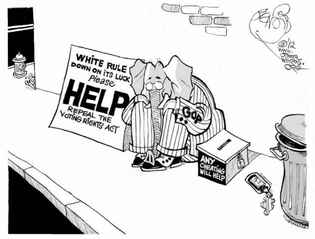 Voting Rights Appeal cartoon