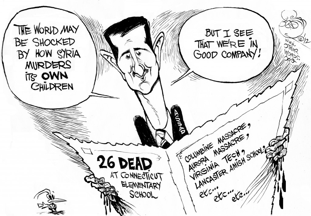 nra newtown shooting cartoon