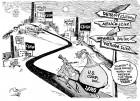 Free Trade Economics OtherWords cartoon Khalil Bendib joblessness low wages