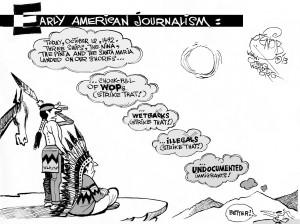 Illegal Immigration, an OtherWords cartoon by Khalil Bendib