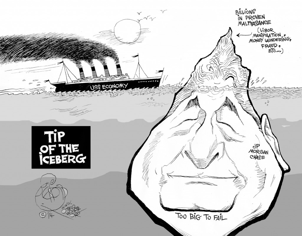 Tip of the Iceberg, an OtherWords cartoon by Khalil Bendib