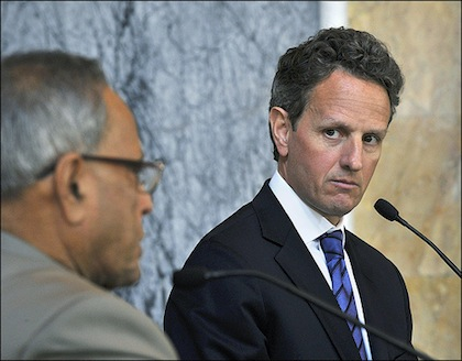 Geithner Gets a Perch on Wall Street