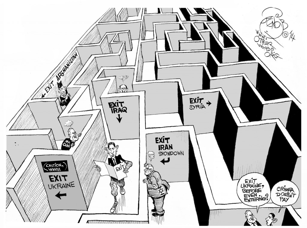 Leave No War Behind, an OtherWords cartoon by Khalil Bendib