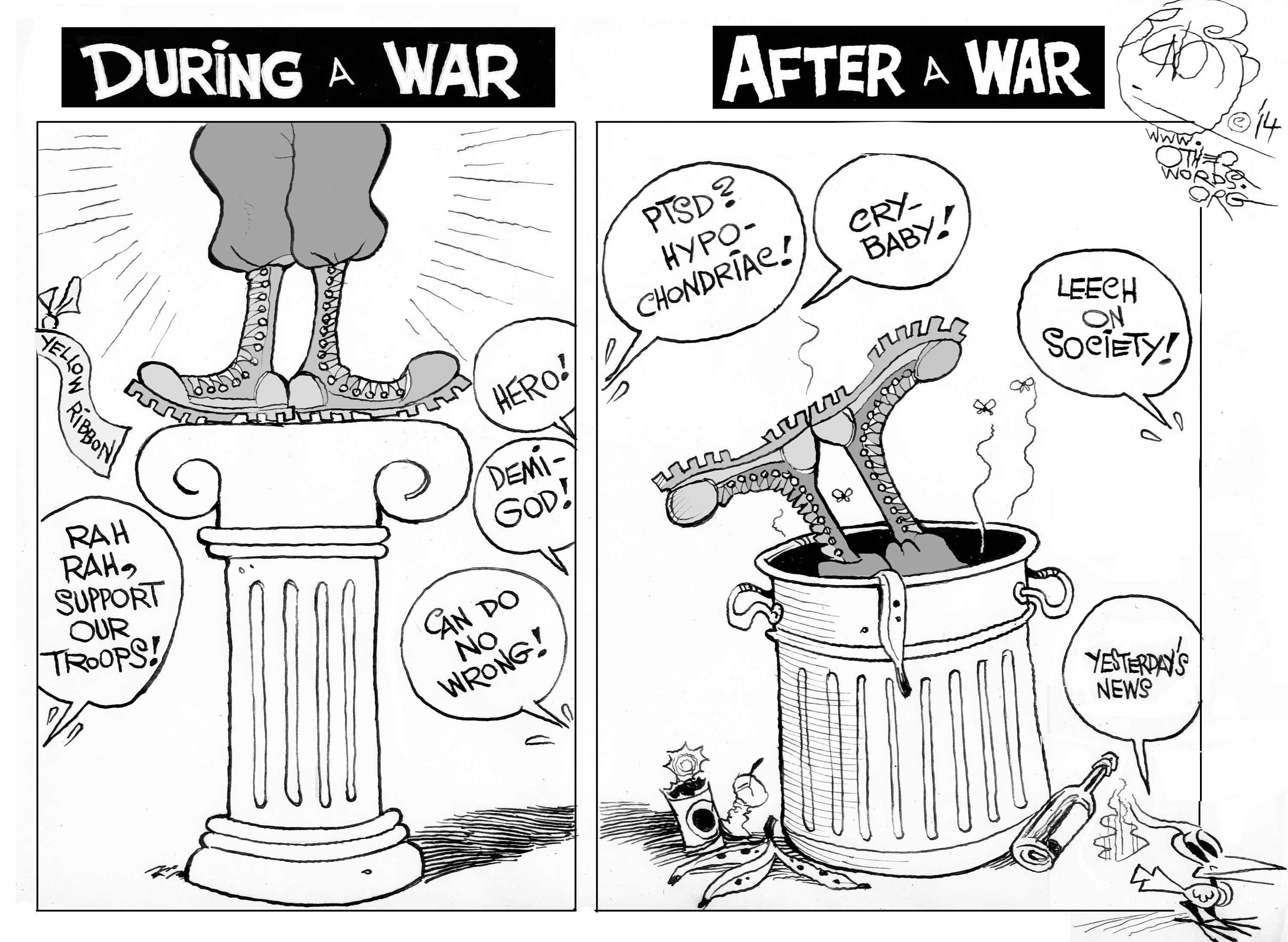 Before and After a War