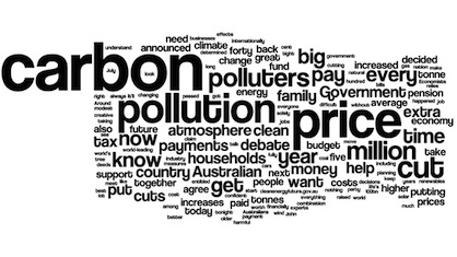 Julia Gibbard's Word Cloud Visualization of Carbon Tax
