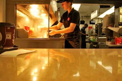 Minimum Wage Fast Food Worker