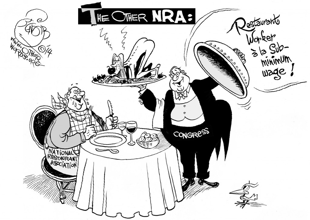 When Congress Serves the Other NRA, an OtherWords cartoon by Khalil Bendib