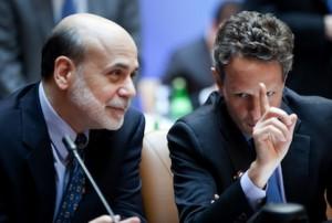 Ben Bernanke and Timothy Geithner