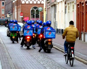 Underpaid Domino's delivery drivers