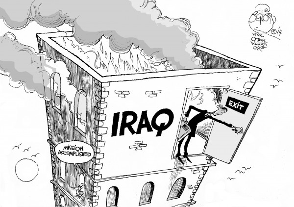 Khalil Bendib | Obama's New Iraq Strategy / otherwords.org