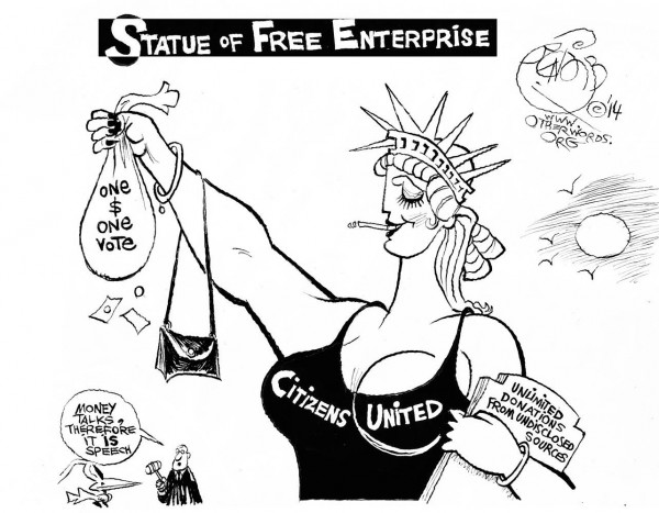 Khalil Bendib | Statue of Free Enterprise / otherwords.org/wp-content