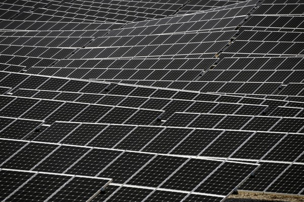endless fields of solar panels