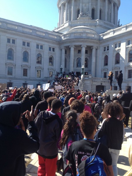 Madison capitol protest