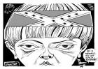 Homegrown Terrorist, an OtherWords cartoon by Khalil Bendib